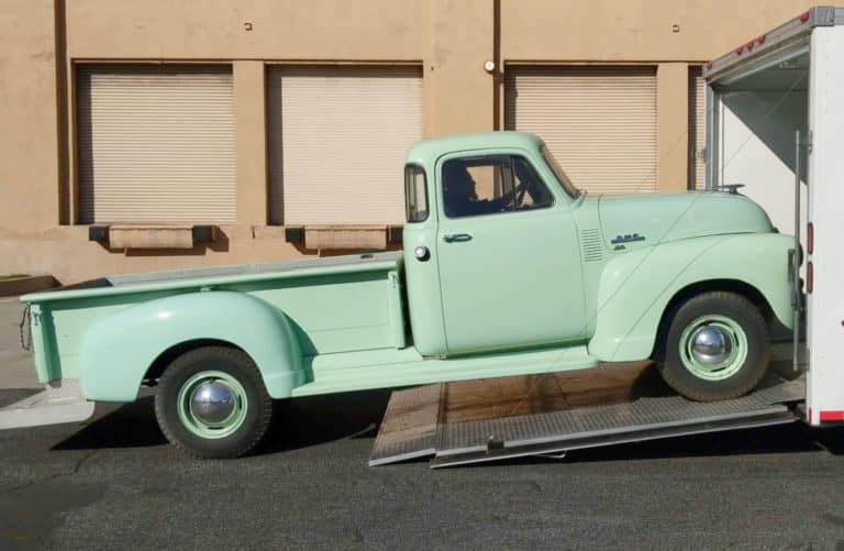 1955 GMC Auto Transport Services Pick up Enclosed Transport