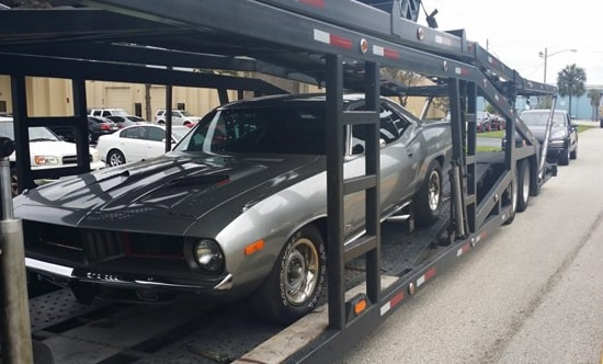 Auto Transport Services Plymouth Barracuda Open Transport