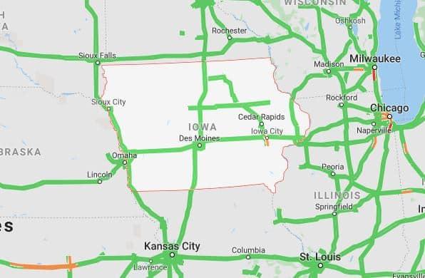 iowa traffic map for autotransport