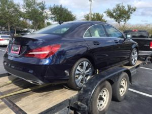 blue mercedes c-class for auto transport