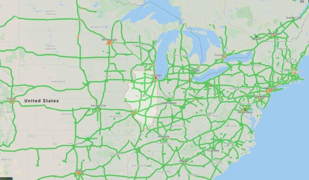 illinois traffic map auto transport