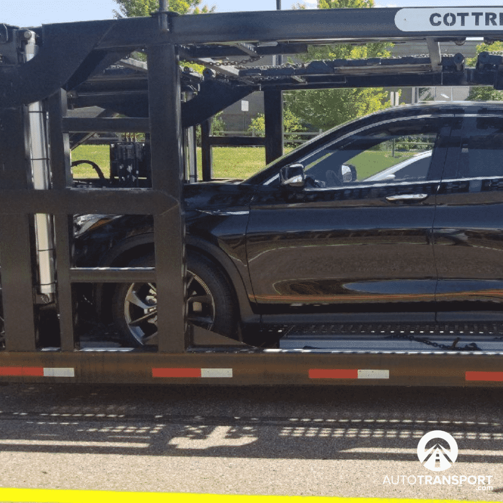 infinity car shipping on trailer