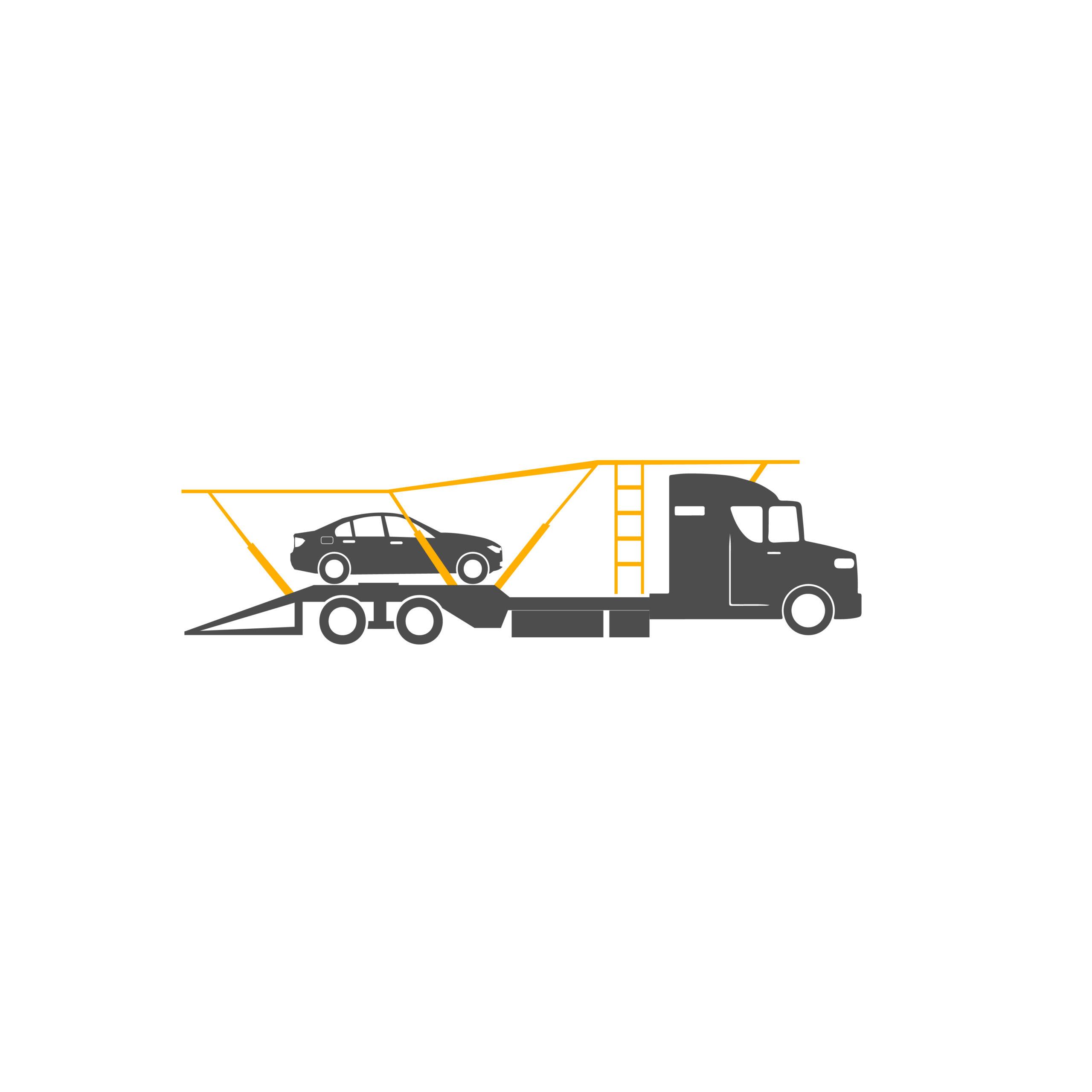 illustration of car transport trailer