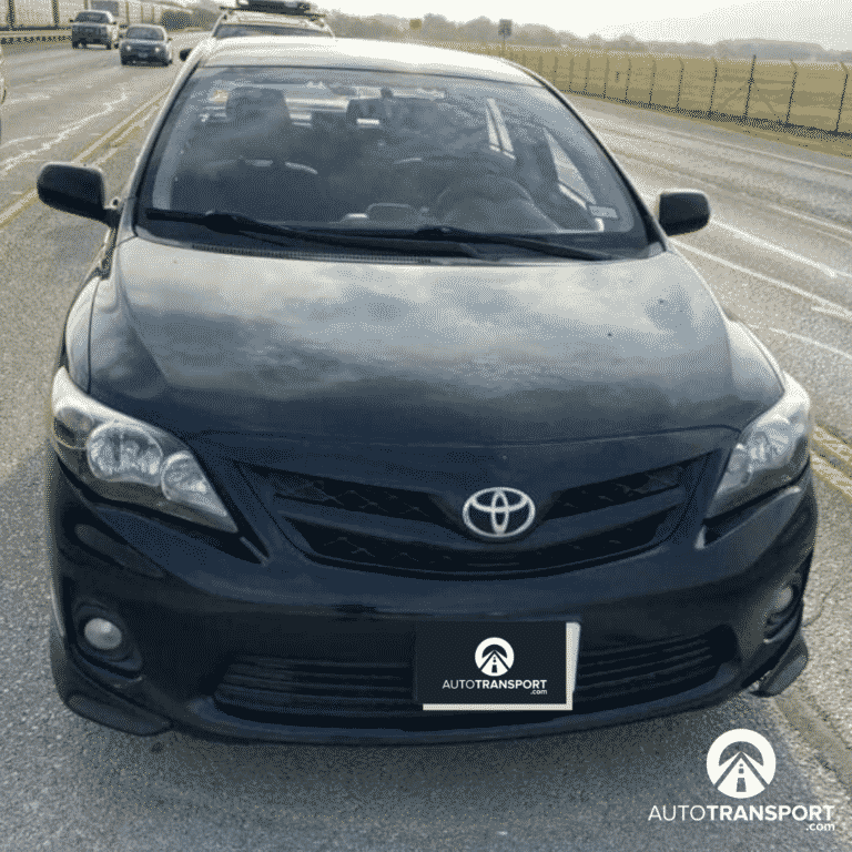 black toyota sedan auto transport