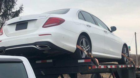mercedes car shipping on autotransport.com trailer
