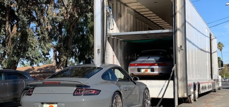 Porsche Loaded onto Trailer